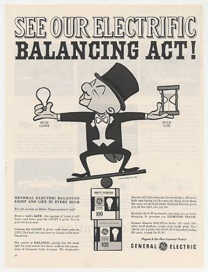 Mr Magoo Balancing Act GE Light Bulbs (1962)