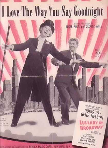 I Love The way You Say Goodnight – Doris Day Movie Sheet Music (1951)
