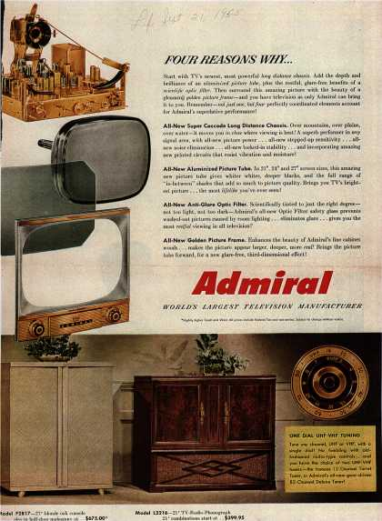 Admiral Corporation&#8217;s Television &#8211; Four Reasons Why... (1953)