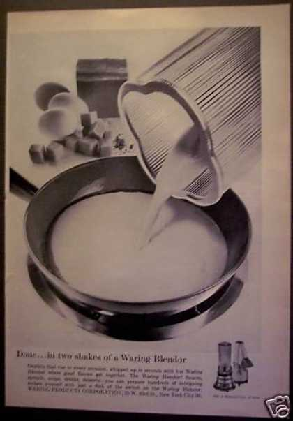 Waring Blender Kitchen Appliance (1956)