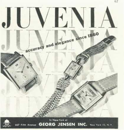 Georg Jensen Juvenia His & Her Wrist Watch (1945)