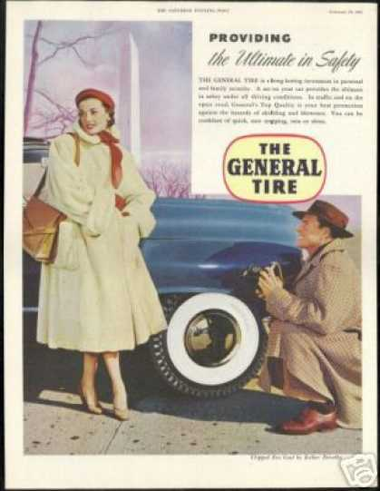 Washington Monument Woman Photo General Tire (1951)