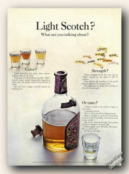 Light Scotch? What Are U Talking Chivas Regal (1965)