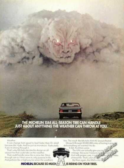 Michelin Xa4 Tires Evil Cloud Advertising (1984)