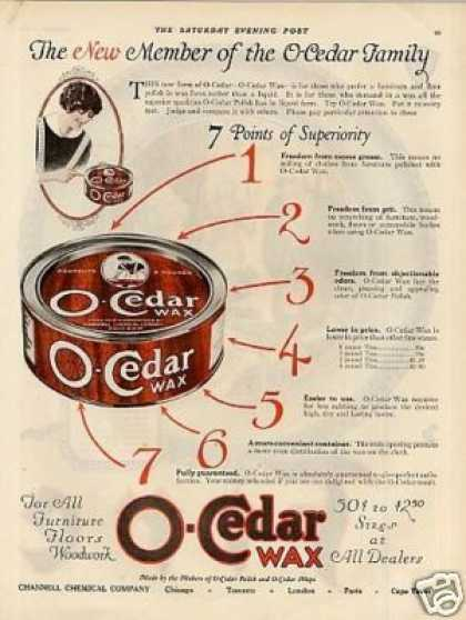O-cedar Wax (1922)