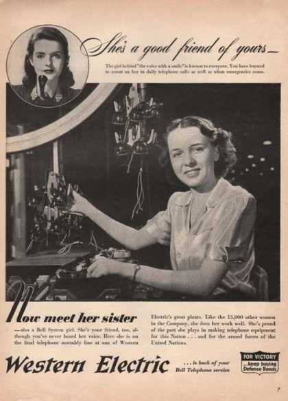 Now Meet Her Sister Western Electric (1942)