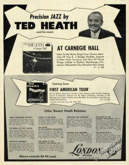 Ted Heath Photo Rare Jazz Records (1957)