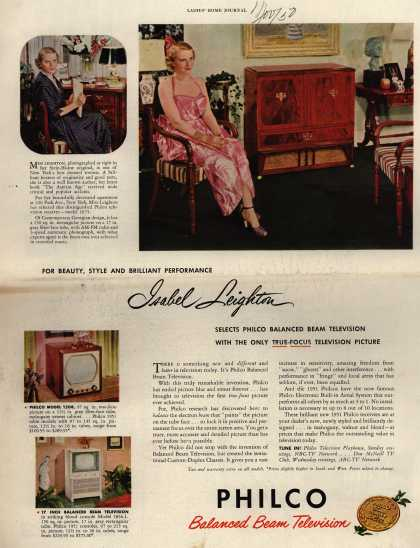 Philco's Television – Isabel Leighton selects Philco Balanced Beam Television (1950)