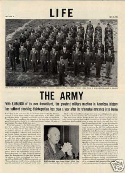 """The Army"" Article/wwll Postwar (1946)"
