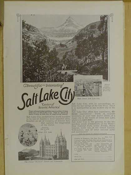 Travel. Salt Lake City. Center of scenic America (1926)