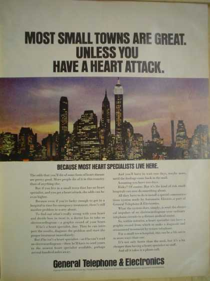 General Telephone and Electronics Most small towns are great unless you have a heart attack (1968)
