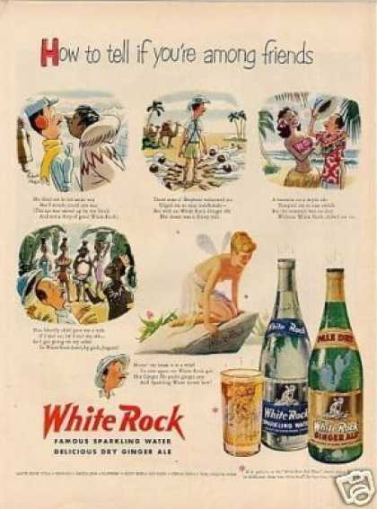 "White Rock Water Ad ""How To Tell... (1951)"
