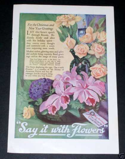 Say It With Flowers, Ftd, Xmas (1919)