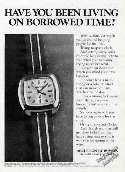 "Accutron By Bulova ""Borrowed Time"" (1972)"