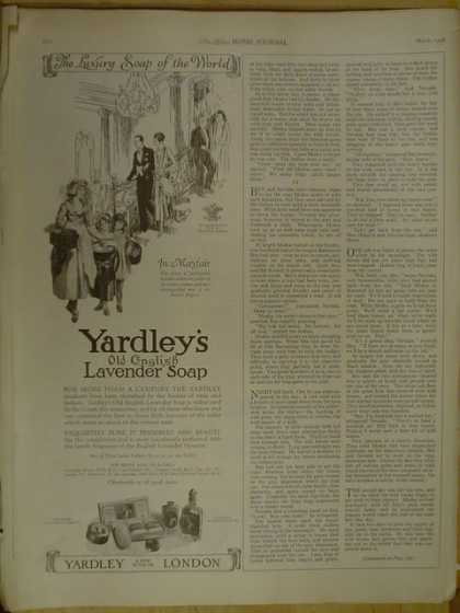 Yardleys Old English Lavendar Soap. London (1926)