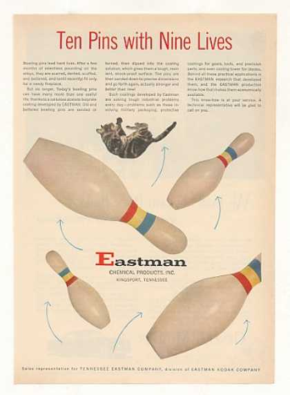 Eastman Chemical Coating Bowling Pins 9 Lives (1953)