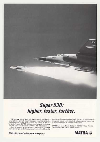 '80 Matra Super 530 Missile Mirage F1 Aircraft Photo (1980)