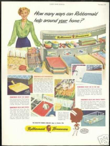 Rubbermaid Housewares Asst Items Vintage (1949)