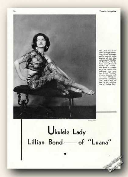 Lillian Bond Photo Luana Theater Promo (1930)