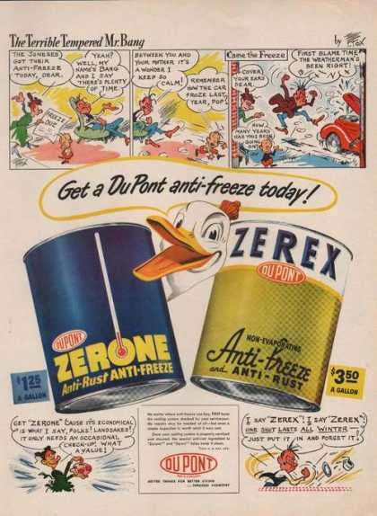 Dupont Anti Freeze Zerone Zerex Cartoon (1949)