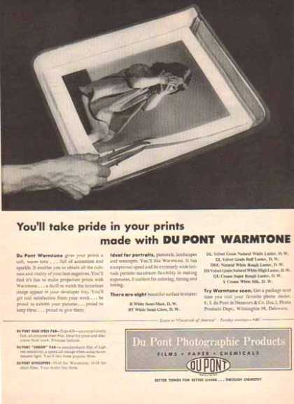 Dupont Photographic Products – Dupont Warmtone (1951)