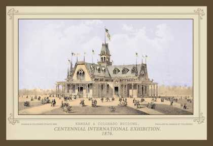 Kansas and Colorado Building, Centennial International Exhibition (1876)