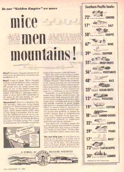 Southern Pacific Railroad – Mice, Men, Mountains (1952)