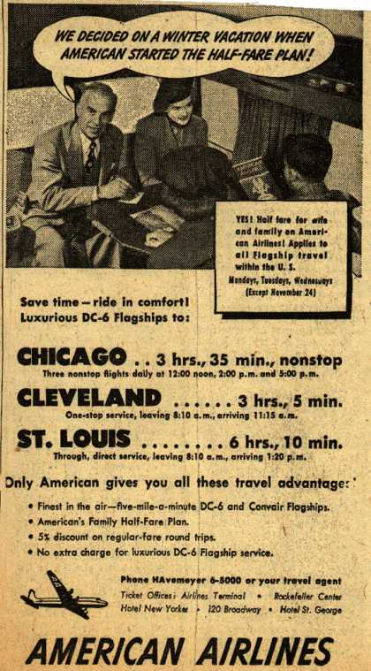 American Airline's Half-Fare plan – American Airlines (1948)