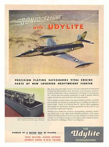 Lockheed F-90 Fighter Aircraft Udylite Plating (1951)