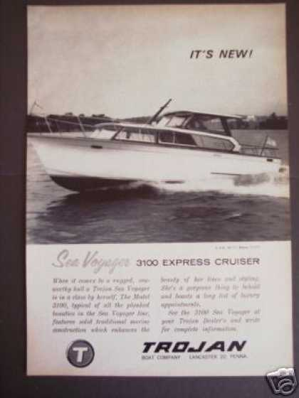 Trojan 3100 Cruiser Boat Yacht Boating (1963)
