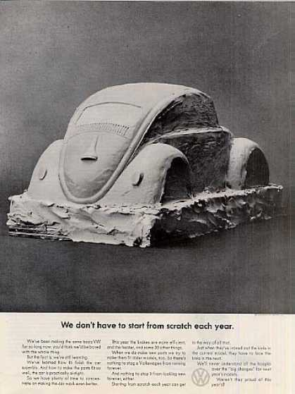 "Volkswagen Car Ad ""We Don't Have To Start... (1964)"