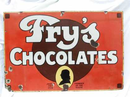 Fry's Chocolates Enamel Sign