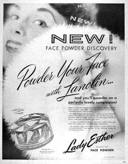 Lady Esther Face Powder (1955)