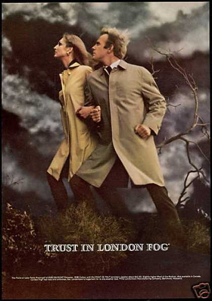 London Fog Coat Men Women's Fashion Photo (1969)
