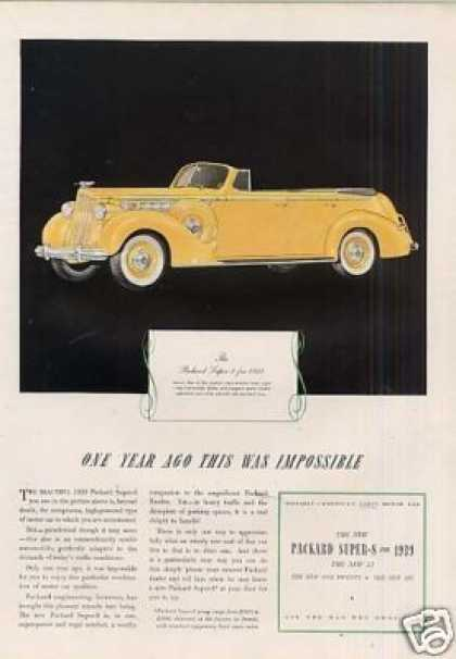 Packard Super-8 Convertible Sedan Color (1939)