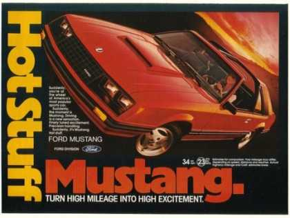 Red Ford Mustang Hot Stuff (1981)