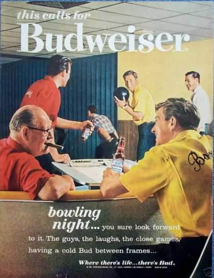 Budweiser Beer Bowling Night League Cigar (1961)