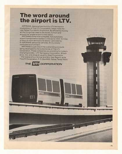 LTV AIRTRANS Dallas Fort Worth Airport Photo (1973)