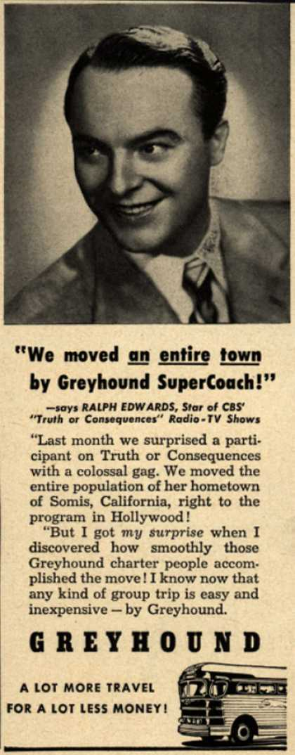 "Greyhound – ""We moved an entire town by Greyhound SuperCoach!"" (1951)"