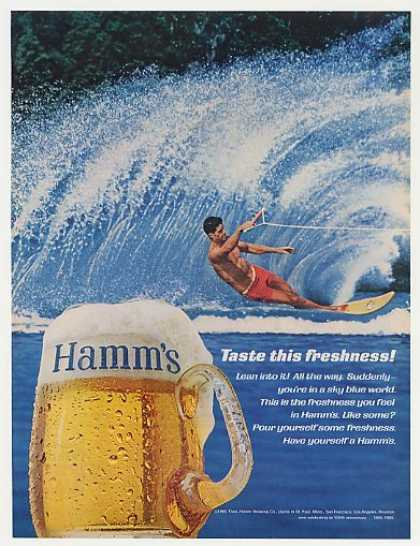 Hamm's Beer Taste Freshness Water Skier Photo (1965)