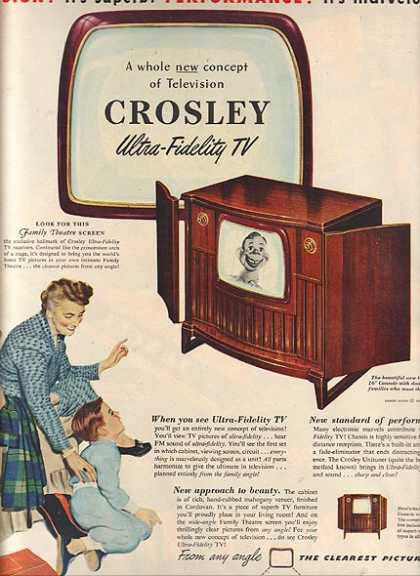 Crosley's Ultra-Fidelity TV (1950)