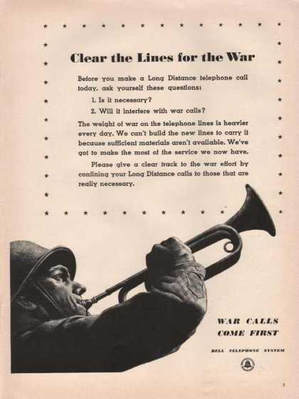 Bell Telephone Clear the Lines for War (1942)