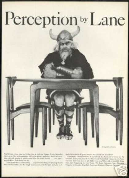 Lane Furniture Table Chair Viking Photo Vintage (1959)