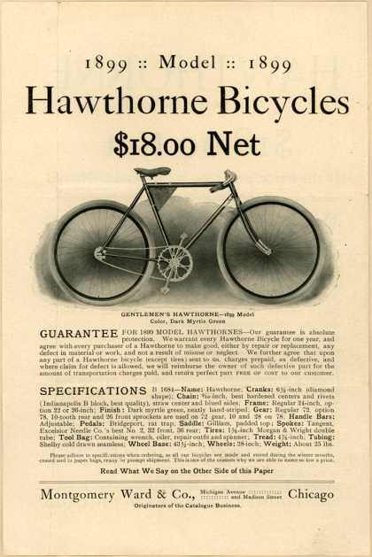 Montgomery Ward & Co.'s Hawthorne Bicycles, 1899 Model – 1899: Model: 1899 (1899)