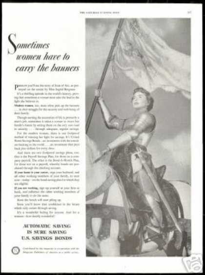 Joan of Arc Ingrid Bergman U.S Savings Bonds (1949)