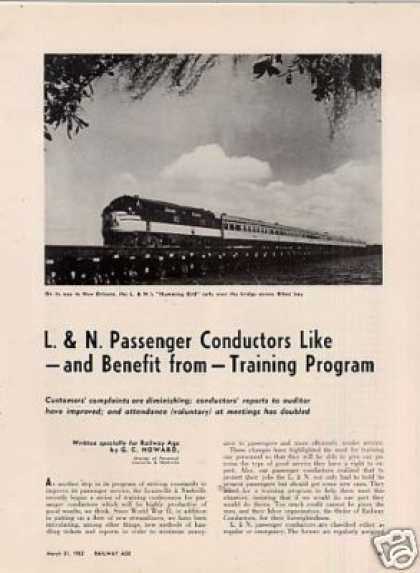 """L&n Conductors Like Training Program"" Article (1952)"