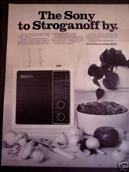 Sony Radio for the Kitchen Model 8f11w (1971)