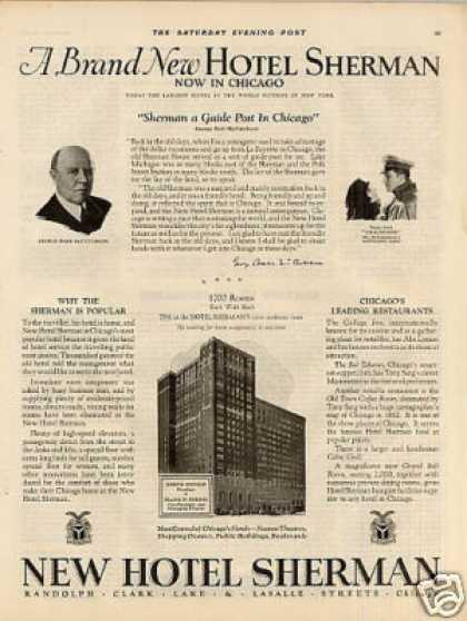 Hotel Sherman Ad Chicago (1925)