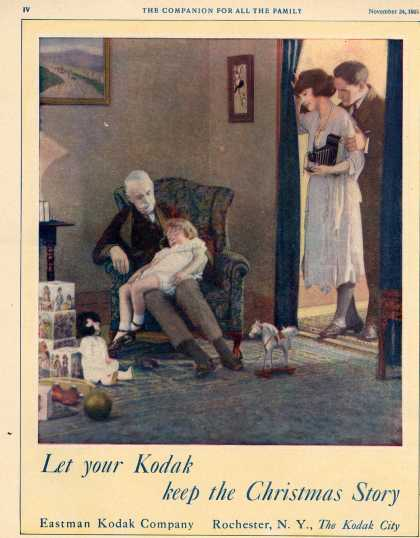 Kodak &#8211; Let your Kodak keep the Christmas Story (1921)