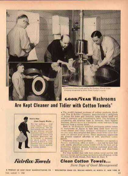 Fairfax Towels – Goodyear Tire & Rubber (1952)